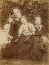 Mrs. Herbert Duckworth with Florence Fisher, George Duckworth, and Herbert Fisher, August 1872. Creator: Julia Margaret Cameron.
