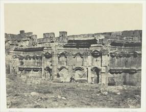 Baalbeck, Intérieur De L'Enceinte Des Temples Du Soleil Et De Jupiter; Syrie, 1849/51, printed 1852. Creator: Maxime du Camp.