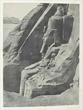 Ibsamboul, Colosse Oriental Du Spéos De Phrè, Vu De Profil; Nubie, 1849/51, printed 1852. Creator: Maxime du Camp.