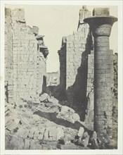 Palais de Karnak, Cour des Bubastites et Entrée Principale de la Salle Hypostyle; Thèbes, 1849/51. Creator: Maxime du Camp.