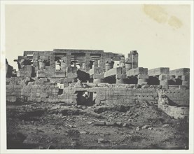Palais de Karnak, Entrée Méridionale de la Salle Hypostyle; Thèbes, 1849/51, printed 1852. Creator: Maxime du Camp.