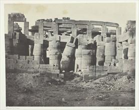 Palais de Karnak, Salle Hypostyle Prise au Nord; Thèbes, 1849/51, printed 1852. Creator: Maxime du Camp.
