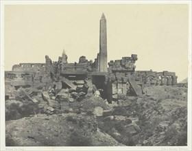 Palais de Karnak, Sanctuaire de Granit et Salle Hypostyle; Thèbes, 1849/51, printed 1852. Creator: Maxime du Camp.