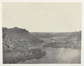 Sortie de la Première Cataracte, Haute-Egypte, 1849/51, printed 1852. Creator: Maxime du Camp.
