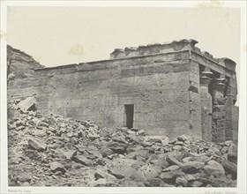 Temple De Dandour (Ancienne Tantour), Dédié à La Triade Osiris-Isis-Horus; Nubie, 1849/51. Creator: Maxime du Camp.