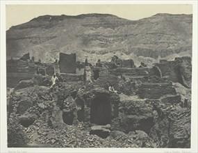 Médinet-Habou, Ruines de la Ville de Papa; Thèbes, 1849/51, printed 1852. Creator: Maxime du Camp.