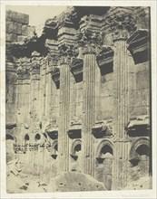 Temple De Jupiter à Baalbeck (Héliopolis, Intérieur Du Naos; Syrie, 1849/51, printed 1852. Creator: Maxime du Camp.