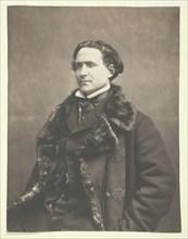 Portrait of La Fontaine, c. 1854-1860. Creator: Nadar.