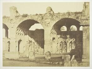 Untitled (Basilica of Maxentius), c. 1857. Creator: Robert MacPherson.