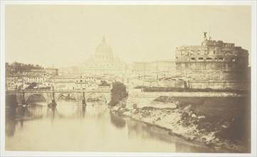 Untitled (bridge over Tiber River), c. 1857. Creator: Robert MacPherson.