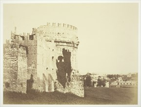 Untitled (Ruin of a Round Fortress Building), c. 1857. Creator: Robert MacPherson.