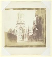 Gate of Christchurch, Oxford, c. 1844. Creator: William Henry Fox Talbot.