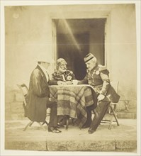 A Council of War: Lord Raglan, Omar Pacha and Pelissier, Taken the eve Before the..., Crimea, 1855. Creator: Roger Fenton.