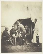 Major General Garrett and Officers of the 46th, 1855. Creator: Roger Fenton.