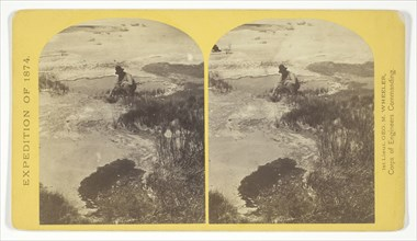 One of the group of Pagosa Hot Springs, showing incrustation on the surface..., 1874. Creator: Tim O'Sullivan.