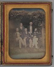 Untitled (Group Portrait of Five Men), 1850. Creator: Unknown.