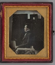 Untitled (Portrait of a Seated Man in Profile), 1845. Creator: Unknown.
