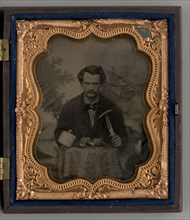 Untitled (Portrait of a Seated Man with Knife), 1863. Creator: Unknown.