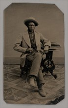 Untitled (Portrait of a Seated Man), 1880. Creator: Unknown.