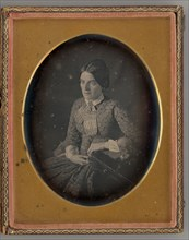 Untitled (Portrait of a Seated Woman), 1850. Creator: Unknown.