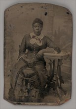 Untitled (Portrait of a Seated Woman), 1880. Creator: Unknown.