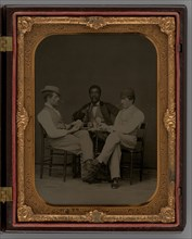 Untitled (Three Men Playing Cards), 1865. Creator: Unknown.