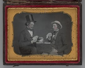 Untitled (Two Men Playing Cards), 1852. Creator: Unknown.