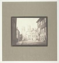A Scene in York - York Minster from Lop Lane, July 28, 1845. Creator: William Henry Fox Talbot.