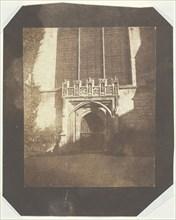 Ancient Door, Magdalen College, Oxford, c. 1843. Creator: William Henry Fox Talbot.