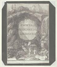 "Copy of the Title Page for ""Inclytae Regiae Societati Londinensi"", c. 1840. Creator: William Henry Fox Talbot."