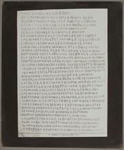 """Copy Print From """"Celebrated Inscriptions Ancient Eugubine Tablets"""", c. 1844. Creator: William Henry Fox Talbot."""