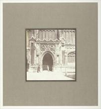 King's College Chapel, Cambridge, South Entrance, c. 1845. Creator: William Henry Fox Talbot.