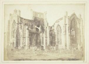 Melrose Abbey, 1844. Creator: William Henry Fox Talbot.