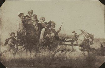 Neapolitan Conveyance - Copy of a Painting at Lacock Abbey, c. 1840. Creator: William Henry Fox Talbot.