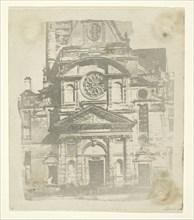 St. Etienne du Mont, Facade, c. 1853/58. Creator: William Henry Fox Talbot.