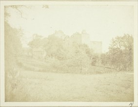 The same scene from the other side, The Castle of Doune, 1844. Creator: William Henry Fox Talbot.