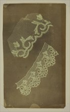 Two Scraps of Lace, c. 1838/42. Creator: William Henry Fox Talbot.