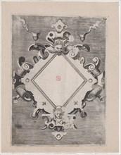 Diamond-shaped Cartouche, 1547-1606. Creator: Unknown.