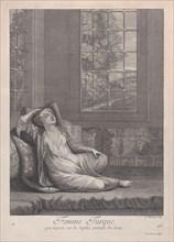 Femme Turque, qui repose sur le Sopha sortant du bain, 1714-15. Creator: Unknown.