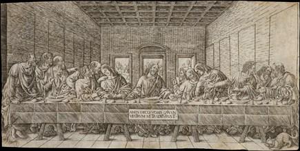 The Last Supper, with a Spaniel, ca. 1500. Creator: Giovan Pietro Birago.