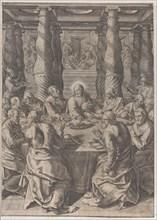 The Last Supper, ca. 1580. Creator: Giovanni Battista Mazza.