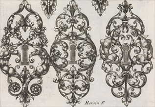 Diverses Pieces de Serruriers, page 5 (recto), ca. 1663. Creator: Jean Berain.