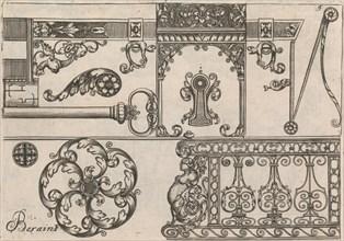 Diverses Pieces de Serruriers, page 6 (recto), ca. 1663. Creator: Jean Berain.