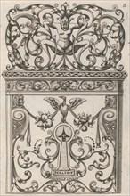 Diverses Pieces de Serruriers, page 9 (recto), ca. 1663. Creator: Jean Berain.
