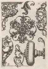 Diverses Pieces de Serruriers, page 12 (recto), ca. 1663. Creator: Jean Berain.