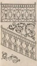 Diverses Pieces de Serruriers, page 16 (recto), ca. 1663. Creator: Jean Berain.