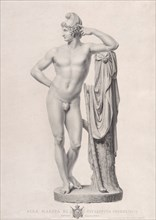 Paris leaning on a tree stump, 1817. Creators: Giovanni Battista Balestra, Giovanni Tognolli.