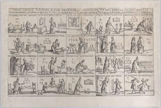 Gioco Delle Donne, E Sue Facende (Game of Wives, And Their Chores), 1654-1718. Creator: Giuseppe Maria Mitelli.