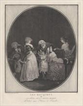 Les Bouquets ou la fête de la grand-maman, 1788. Creator: Philibert Louis Debucourt.