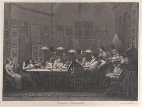 Rosaspina's drawing academy, 1811. Creator: Giulio Tomba.